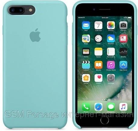 Чехол (Silicone Case) для iPhone 7 Plus / iPhone 8 Plus Original Sea Blue