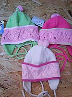 Шапочка вязанная для девочки, фото 1