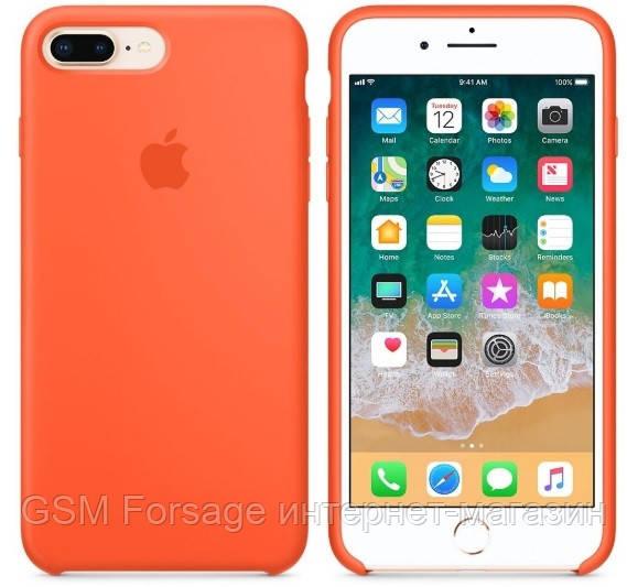 Чехол (Silicone Case) для iPhone 7 Plus / iPhone 8 Plus Original Orange