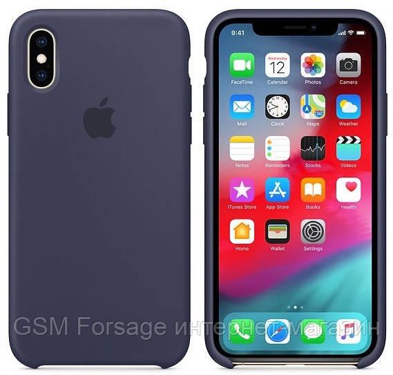 Чехол (Silicone Case) для iPhone XR Original Midnight Blue