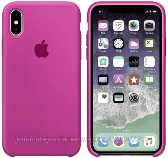 Чехол (Silicone Case) для iPhone XS Max Original Dragon Fruit