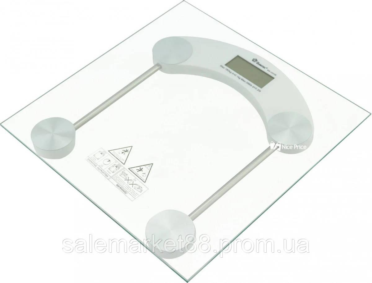 Весы напольные электронные Domatec MS-2003B /180кг квадратные