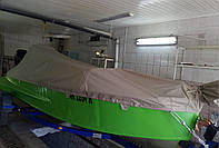 Транспортировочный тент. Перевозка лодок с защитой корпуса