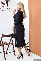 Сукня трикотажне прямого крою з поясом,міді, 2 кольори р-р 50-52,54-56,58-60 Код 575Б, фото 3