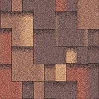 Битумная черепица «АКВАИЗОЛ» Акцент Марокко (красный + коричневый + антик + антик светлый)