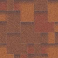 Битумная черепица «АКВАИЗОЛ» Акцент Синай (красный + коричневый + антик)