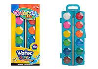 Краски акварельные маленькие таблетки 12 цветов COLORINO (41508PTR)