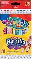 Фломастеры 2-сторонние 10цветов COLORINO (13451PTR/1)