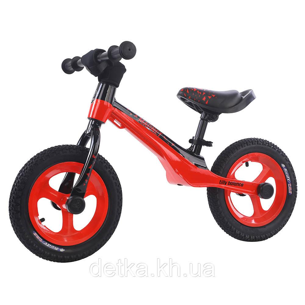"""Беговел (велобег)BALANCE TILLY 12"""" Magnet T-212522 2цв Красный"""