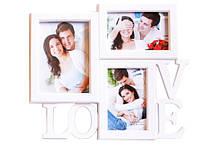 Фоторамка Willi семейная 3 фото 31*36cm LOVE (ХZ-1803)
