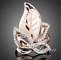 Кольцо женское с австрийскими кристаллами, покрытое золотом код 797