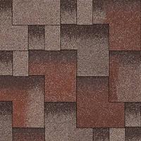 Битумная черепица «АКВАИЗОЛ» Акцент Кедровый (красный + серый + коричневая тень)