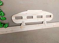 """Деревянный защитный барьер для кровати """"Лунтик"""" (цвет на выбор) 110 см. Белый"""