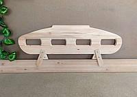 """Деревянный защитный барьер для кровати """"Лунтик"""" (цвет на выбор) 110 см. Слоновая кость"""