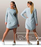 Женское свободное платье Челси 52, серый