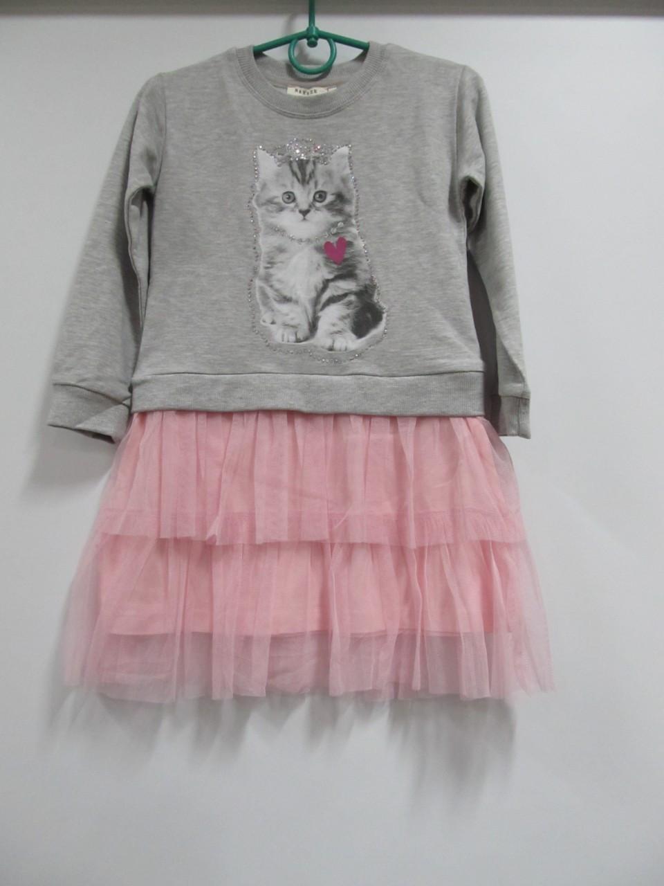 Нарядное платье с фатиновой юбкой для девочки, пудра - серий , 98, 104, BREEZE Турция