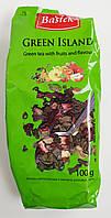 Чай зеленый листовой Bastek Green Island с натуральными цветами и фруктами 100 грамм