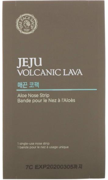 Удобные полоски (пластыри, патчи) для носа The face shop JEJU Volcanic LAVA aloe nose strip 1 шт