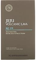 Удобные полоски (пластыри, патчи) для носа The face shop JEJU Volcanic LAVA aloe nose strip 1 шт, фото 1