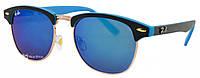 Солнцезащитные очки Ray Ban Clubmaster 5702 50-17-145 C7 синие (реплика)
