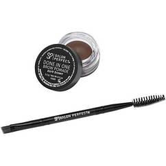 Крем  краска для  бровей  с   кисточкой и  щеточкой  Salon Perfect Темно-коричневый  цвет  США.