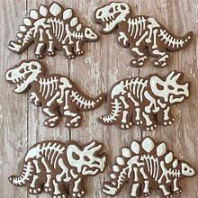 Формочки-вырубки для пряников + штампы Набор Динозавров №2 - 3шт