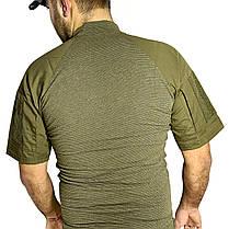 Тактическая футболка с коротким рукавом Lesko A424 Green M мужская армейская камуфляжная с карманами военная, фото 2
