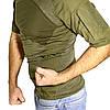 Тактическая футболка с коротким рукавом ESDY A424 Green M мужская армейская камуфляжная с карманами военная, фото 2