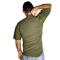 Тактическая футболка с коротким рукавом Lesko A424 Green XL мужская армейская камуфляжная с карманами военная, фото 3