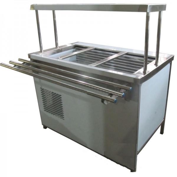 Прилавок холодильный с боксом (ПВХЛС) МАСТЕР 304/430 VS 1200.0 (мм)