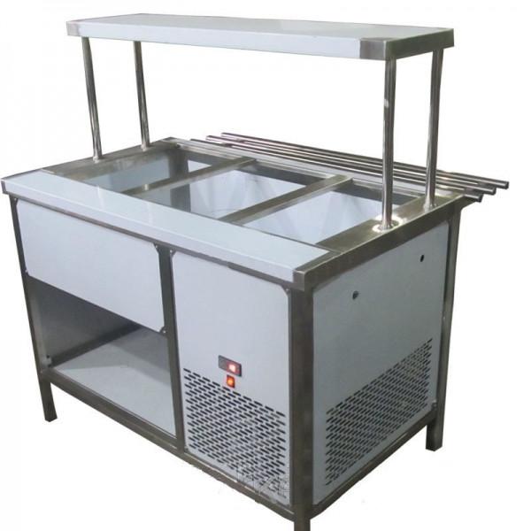 Прилавок холодильный с боксом (ПВХЛС) СТАНДАРТ 304/Ст.3 VSOP-1, 1800.0 (мм)