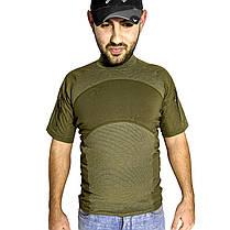 Тактична футболка з коротким рукавом Lesko A424 Green XXL чоловіча армійська штани з кишенями військова, фото 3