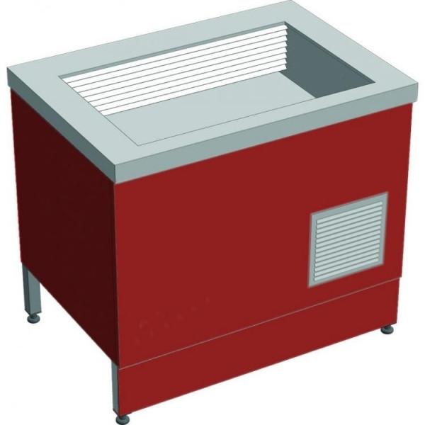 Прилавок холодильный без бокса (ПВХЛС) СТАНДАРТ 304/Ст.3 VS 1500.0 (мм)