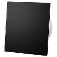 Витяжний вентилятор AirRoxy dRim 125 S BB BLACK панеллю чорний черный скло стекло матове