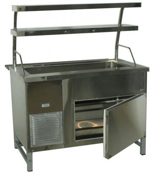 Прилавок холодильный без бокса (ПВХЛС) СТАНДАРТ 304/Ст.3 VSOP 1500.0 (мм)