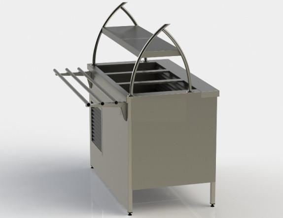 Прилавок холодильный без бокса (ПВХЛС) МАСТЕР 304/430 FRIGATA 1200.0 (мм)
