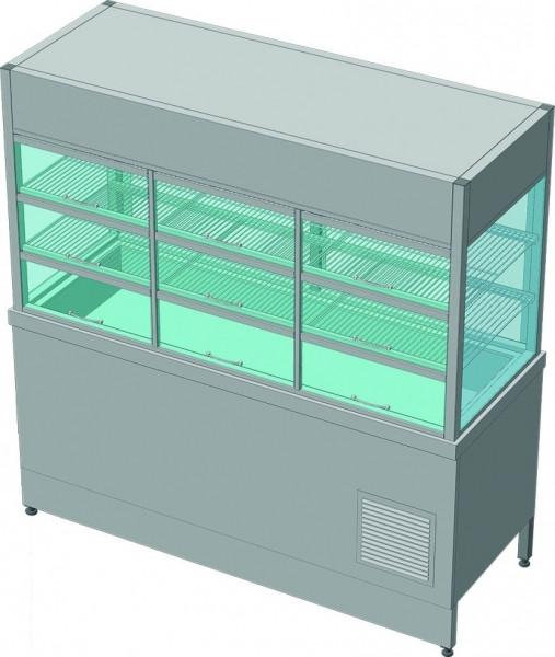 Прилавок-витрина холодильный без бокса (ПВХЛС-К) МАСТЕР 304/304, 1500.0 (мм)