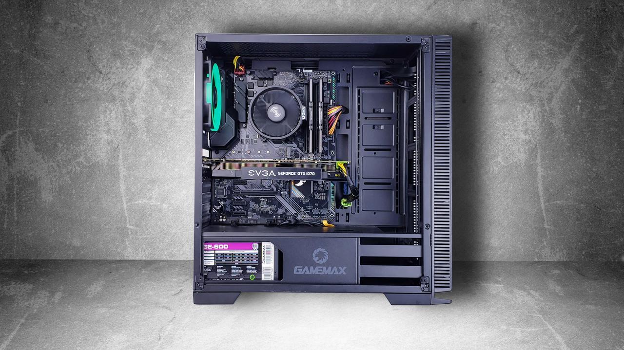 """Игровой компьютер KIEV-IT™ """"Medium Well"""" Ryzen 5 1600   B450   GTX 1070   DDR4 8GB   SSD 240GB   1TB"""