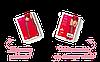 Чулки - S800 Obsessive, бордовые, фото 4
