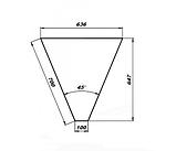 Нейтральный элемент угловой (НЭ-У) внутренний 45° МАСТЕР 304/430 (без полок), фото 2