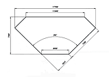 Нейтральный элемент угловой (НЭ-У) внутренний 90° МАСТЕР 304/430 VSOP-1 (с полками), фото 2