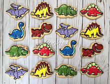 Набор трафаретов + формочек-вырубок для пряников Набор Динозавров №7