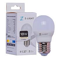 Світлодіодна лампа 10W Z-LIGHT 1001 кулька G45 Е27 4000K (нейтральне світло)