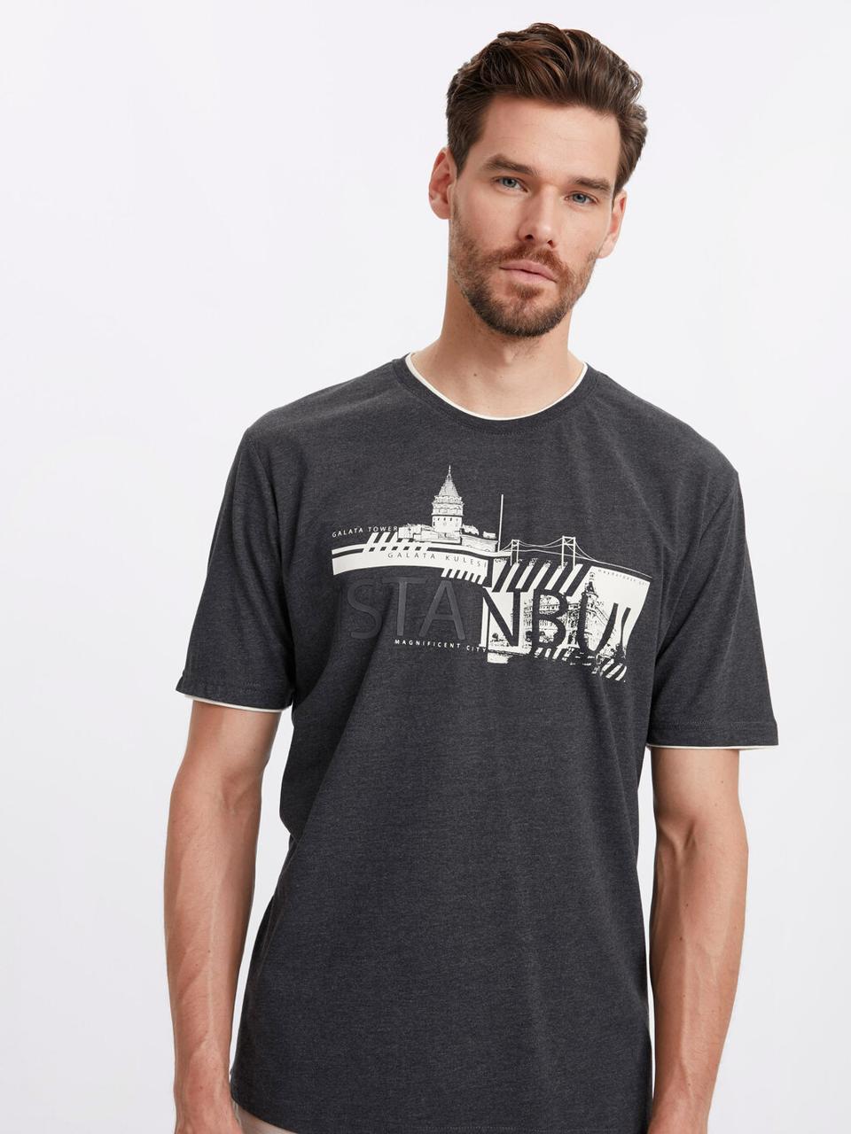 Графитовая мужская футболка LC Waikiki / ЛС Вайкики Istanbul