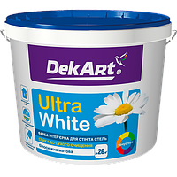 DekArt Краска интерьерная «Ultra White» База А 4 кг для внутренних работ