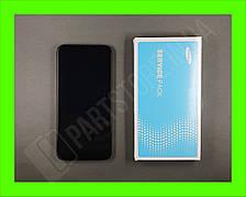 Дисплей Samsung А01 Black А015 2020 (GH81-18209A) сервисный оригинал в сборе с рамкой