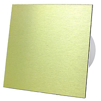 Витяжний вентилятор AirRoxy Таймер dRim 100 TS BB Aluminium Gold з панеллю золото метал