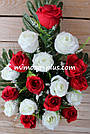 Искусственные цветы - Роза с гипсофилой композиция, фото 8