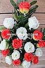 Искусственные цветы - Роза с гипсофилой композиция, фото 10
