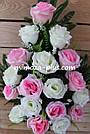 Искусственные цветы - Роза с гипсофилой композиция, фото 4